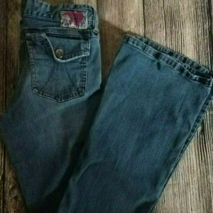 Mudd Girls Juniors size 5 flare blue jeans